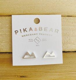 Pika & Bear Bankhead Studs- Silver