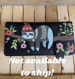 Shag Wear Cozy Sloth Wallet (Black)