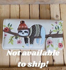 Shag Wear Cozy Sloth Wallet (Cream)