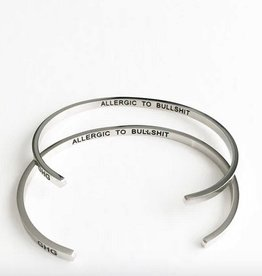 Glass House Goods Inner Voice Bangle: Allergic To Bullshit