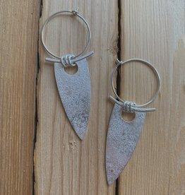 Valerie Davidson Sterling Silver Fused Dagger Earring