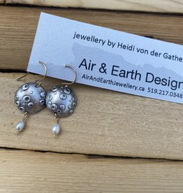 Air & Earth Designs Bubble Earring- Freshwater Pear