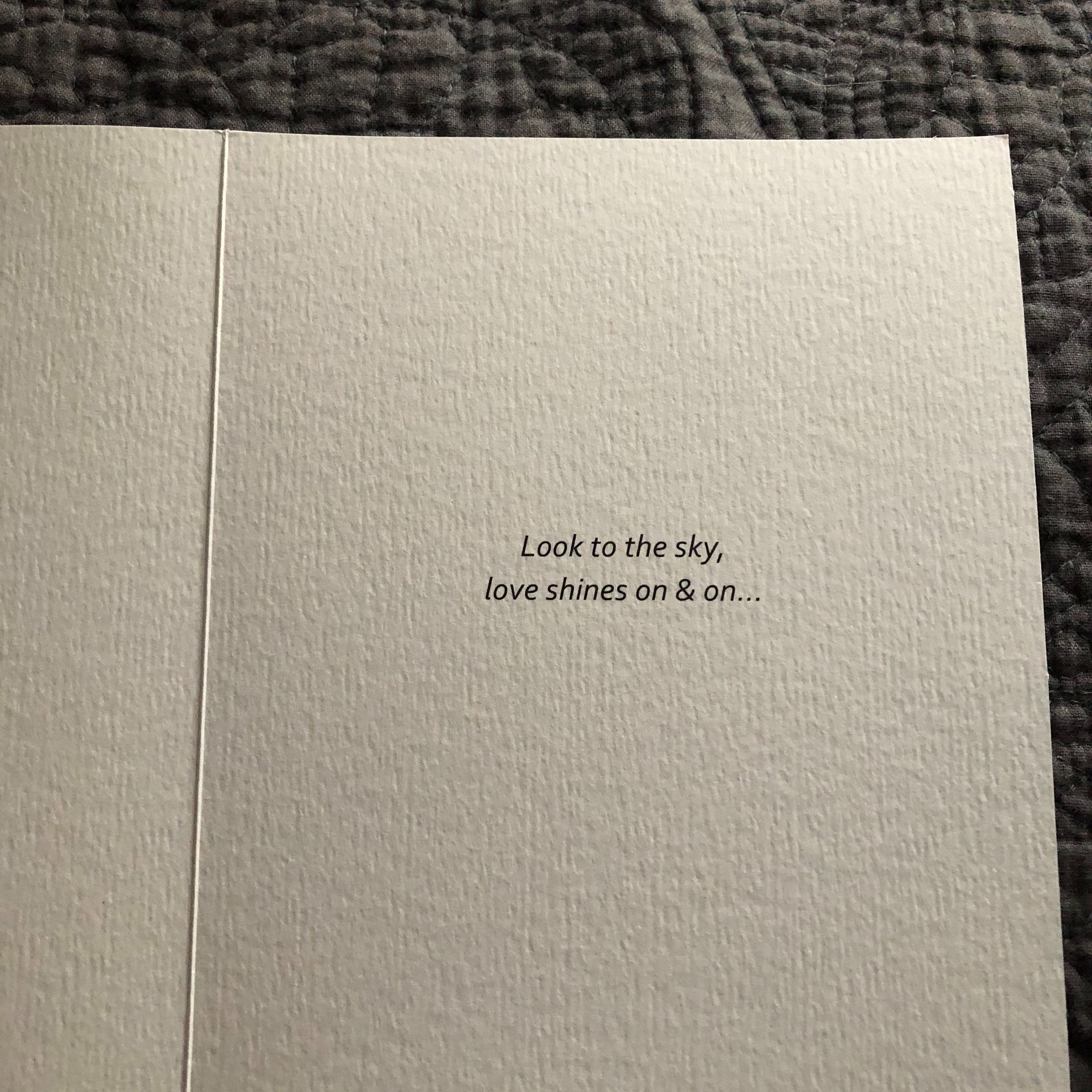 """Jannex """"Look to the Sky"""" Sympathy Card"""