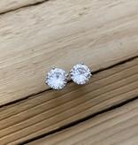Bamiyan Cubic Zirconia Stud Earrings 6mm
