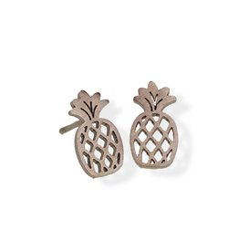 Fab Accessories Pineapple Stud- Rose Gold