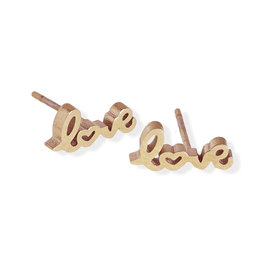 "Fab Accessories ""Love"" Stud- Rose Gold"