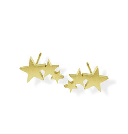 Fab Accessories Star Cluster Stud- Gold