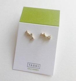 Tashi Climbing CZ Studs- Gold