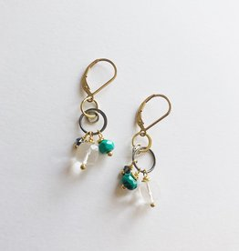 Howling Dog Stacey Earring- Clear