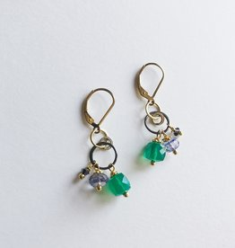 Howling Dog Stacey Earring- Green