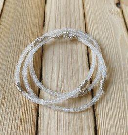 Dianne Rodger Moonstone & Silver Mini Twist Necklace/ Wrap Bracelet