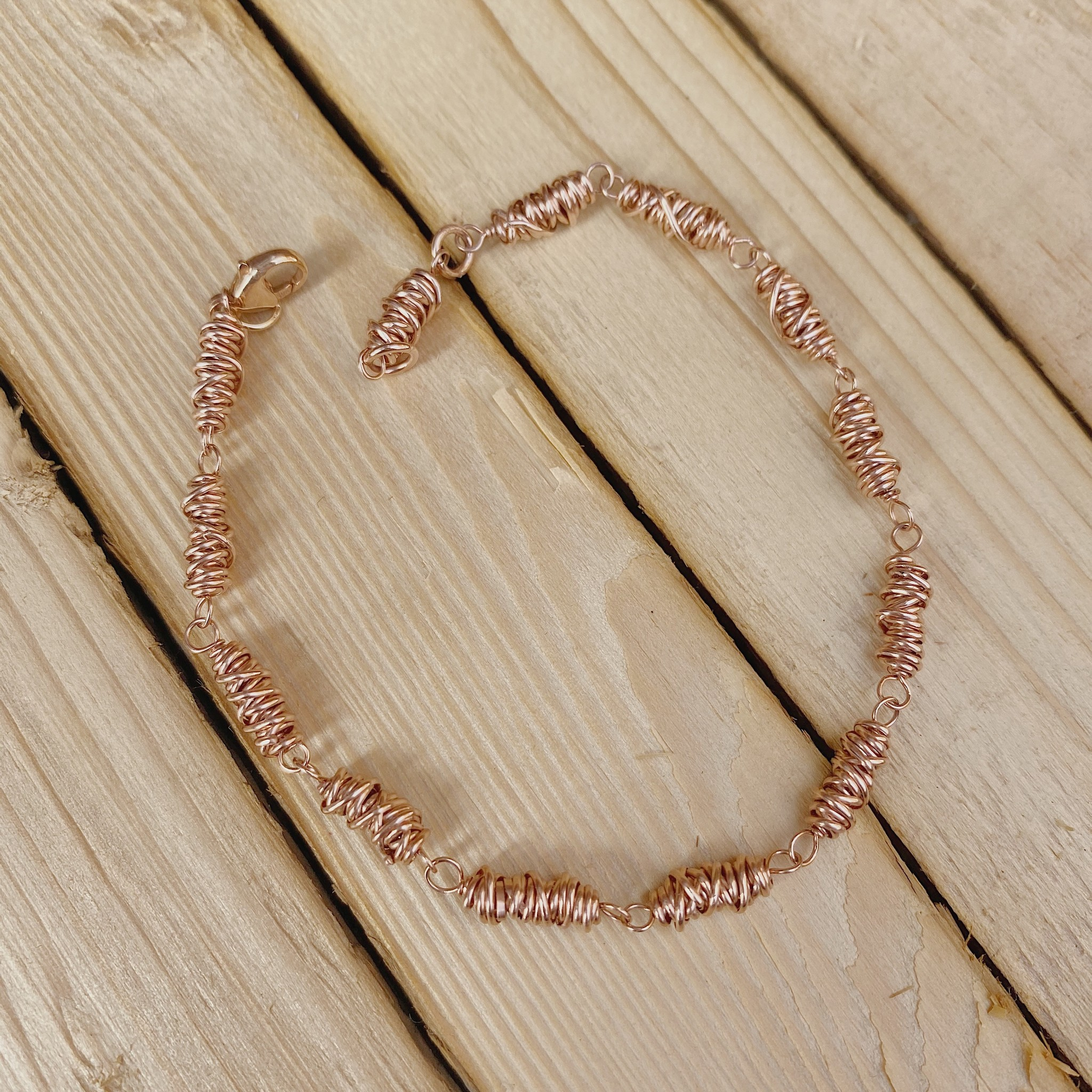 Dianne Rodger Itty Bitty Twist Bracelet- Rose Gold
