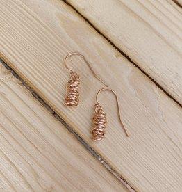 Dianne Rodger Rose Gold Mini Twist Earrings