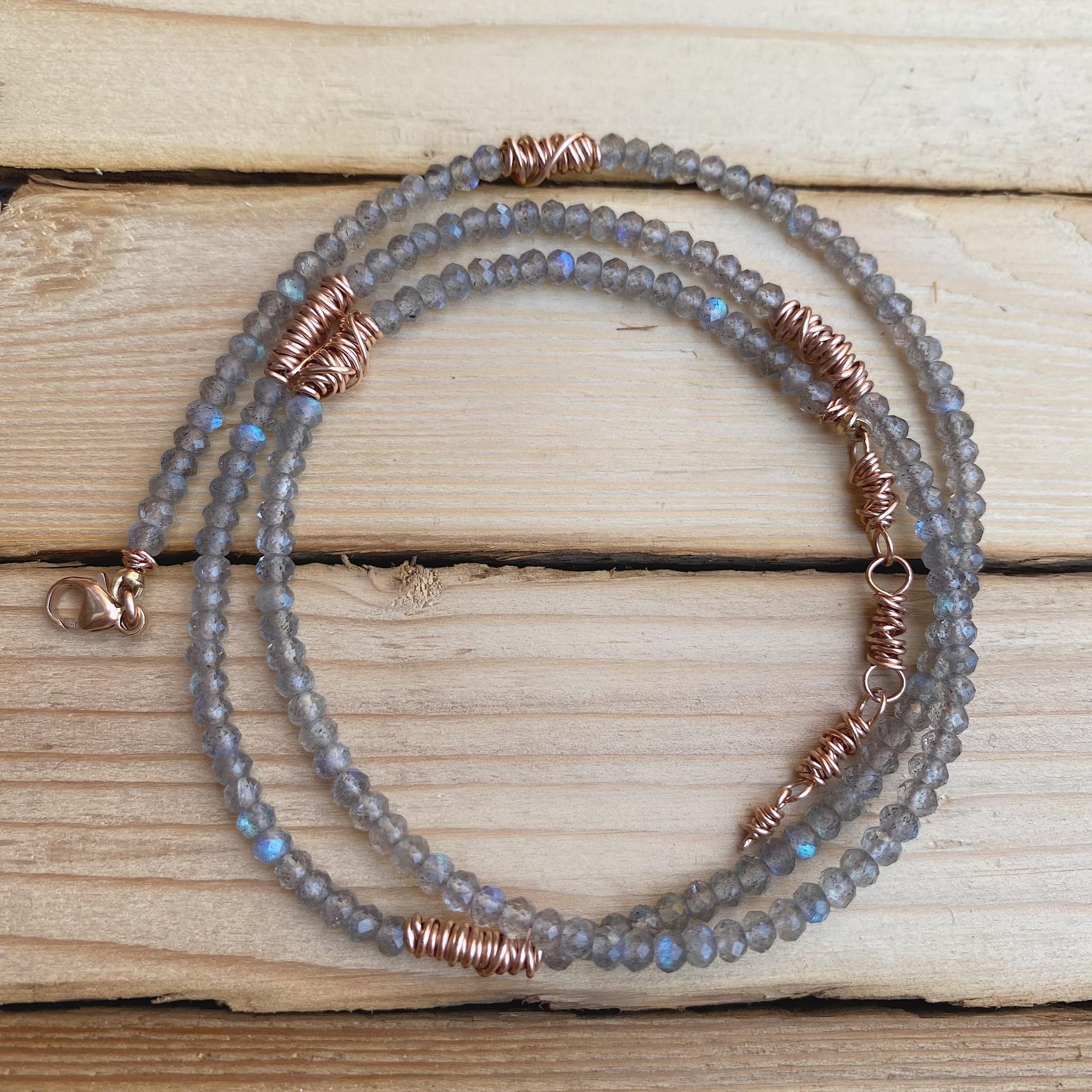 Dianne Rodger Rose Gold Lab Micro Twist Wrap Bracelet/ Necklace