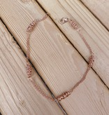 Dianne Rodger Rose Gold Itty Bitty Twists Bracelet- Simple