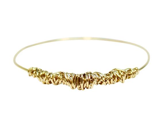 Dianne Rodger Gold Twist Bangle medium