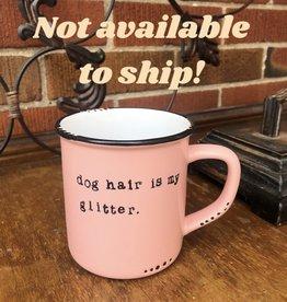 Lace and Twig Dog Hair Mug- Pink