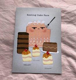 "Jannex ""Cake Face"" Birthday Card"
