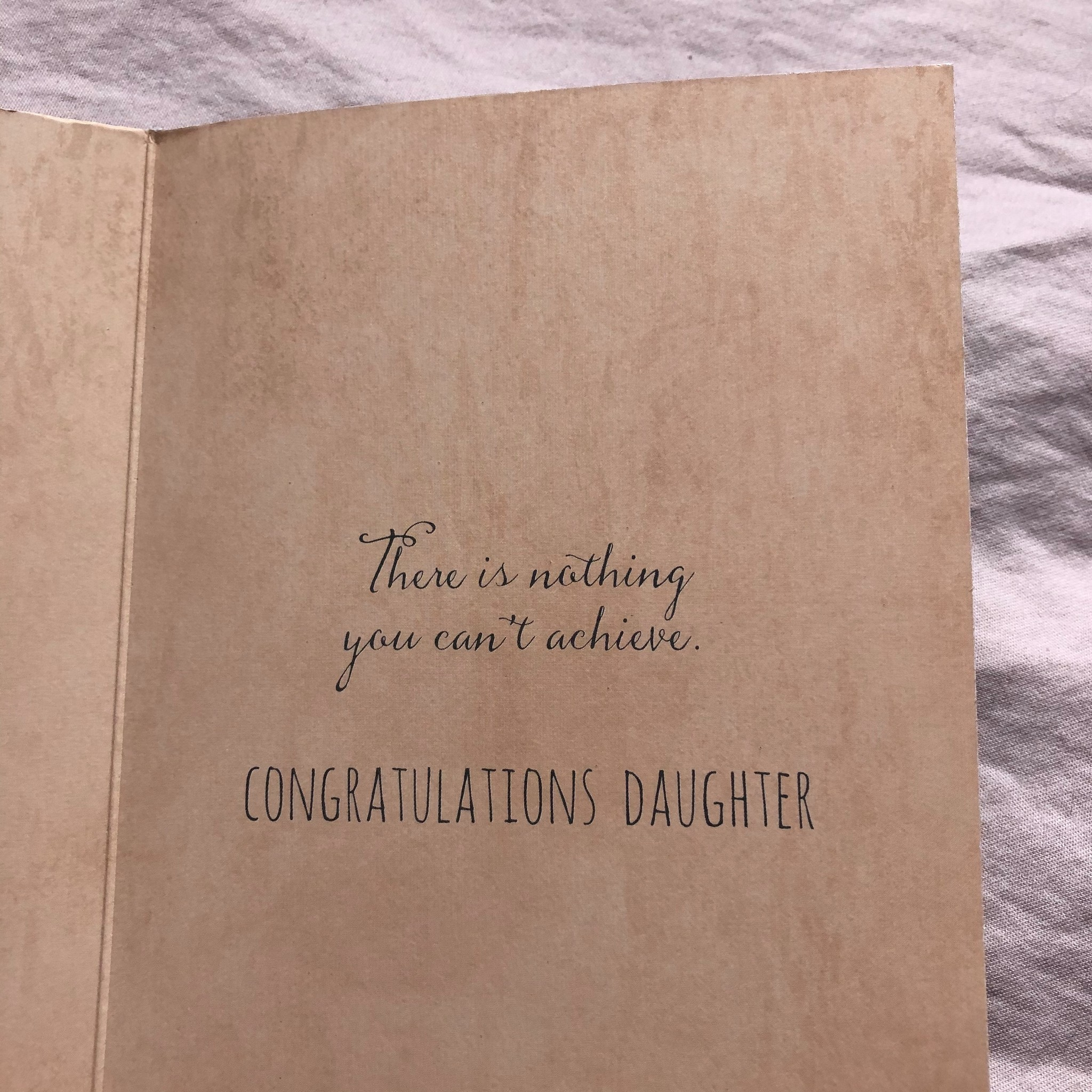 "Jannex ""Congratulations, Daughter"" Achievement Card"