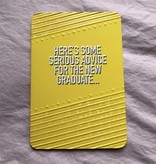 "Jannex ""Serious Advice"" Graduation Card"