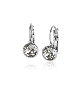 Fab Accessories Classic Crystal Drop- Clear/ Silver