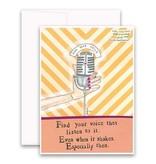 """Jannex """"Find Your Voice"""" Blank Card"""