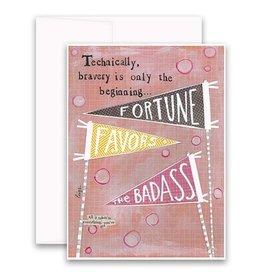 "Jannex ""Fortune Favors"" Blank Card"