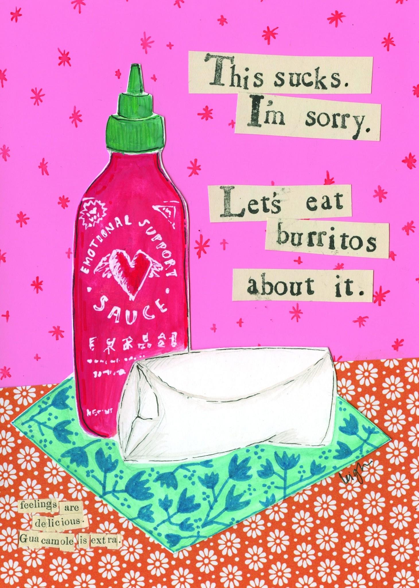 """Jannex """"Burritos"""" Blank Card"""