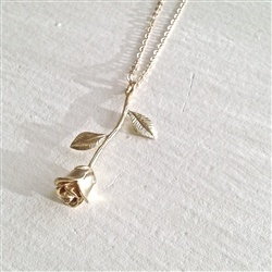 """Pika & Bear """"Every Rose Has It's Thorn Necklace"""" 28"""" Gold"""