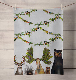 Green Box The Forest Five Tea Towel