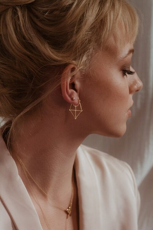 Sarah Mulder Clarice Earring- Gold
