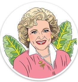The Found Betty White Sticker
