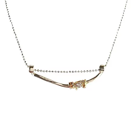"Joy Annett Designs Branch Coiled Stone Necklace 18"""