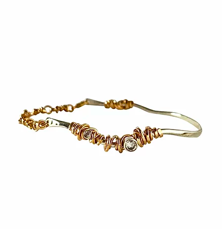 Joy Annett Designs Coiled Stones Statement Bracelet M/L