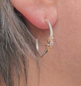 Joy Annett Designs Gold Coiled Stone Hoop- Small