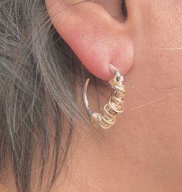 Joy Annett Designs Gold Coiled Hoop- Small