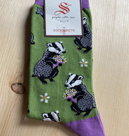 SockSmith Bashful Badger Socks- Green