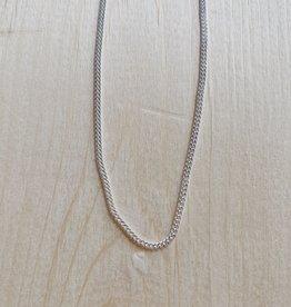 """Marmalade Thin Silver Curb Chain 24"""""""