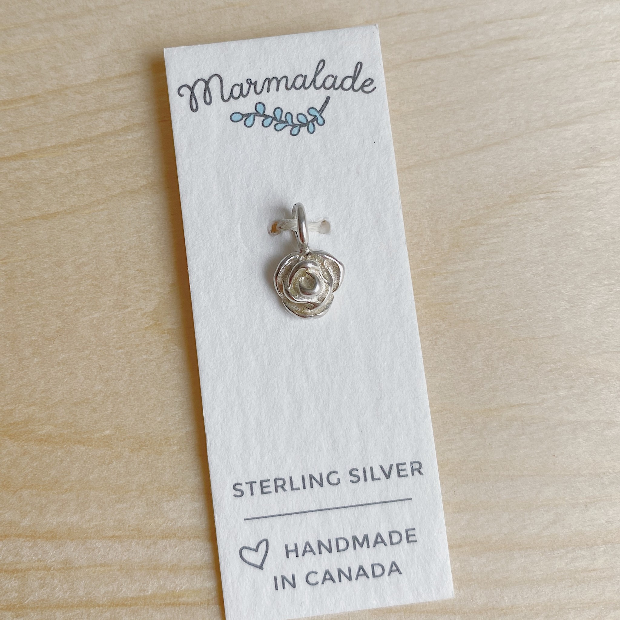 Marmalade Silver Rose Charm