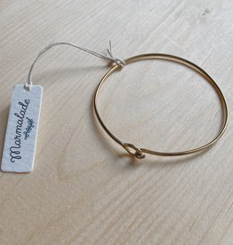 Marmalade Brass Hook Bangle