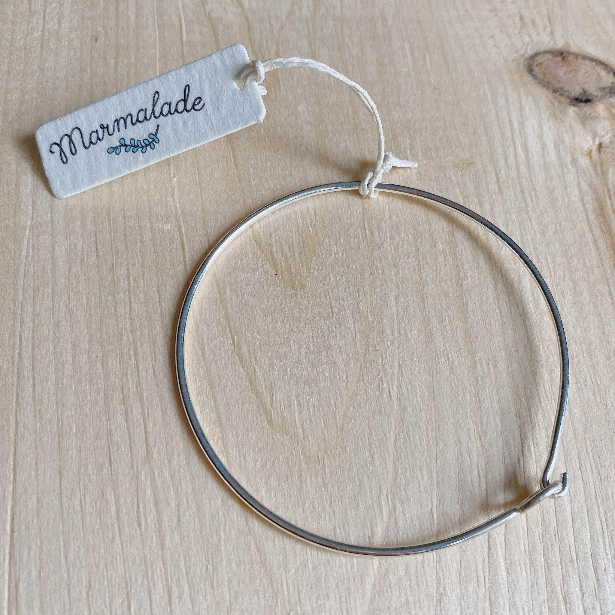 Marmalade Silver Hook Bangle