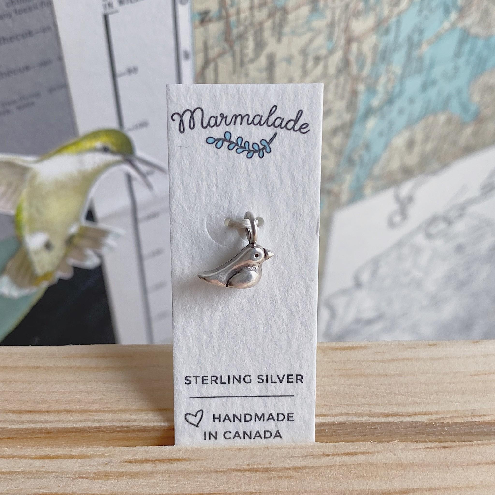 Marmalade Silver Bird Charm