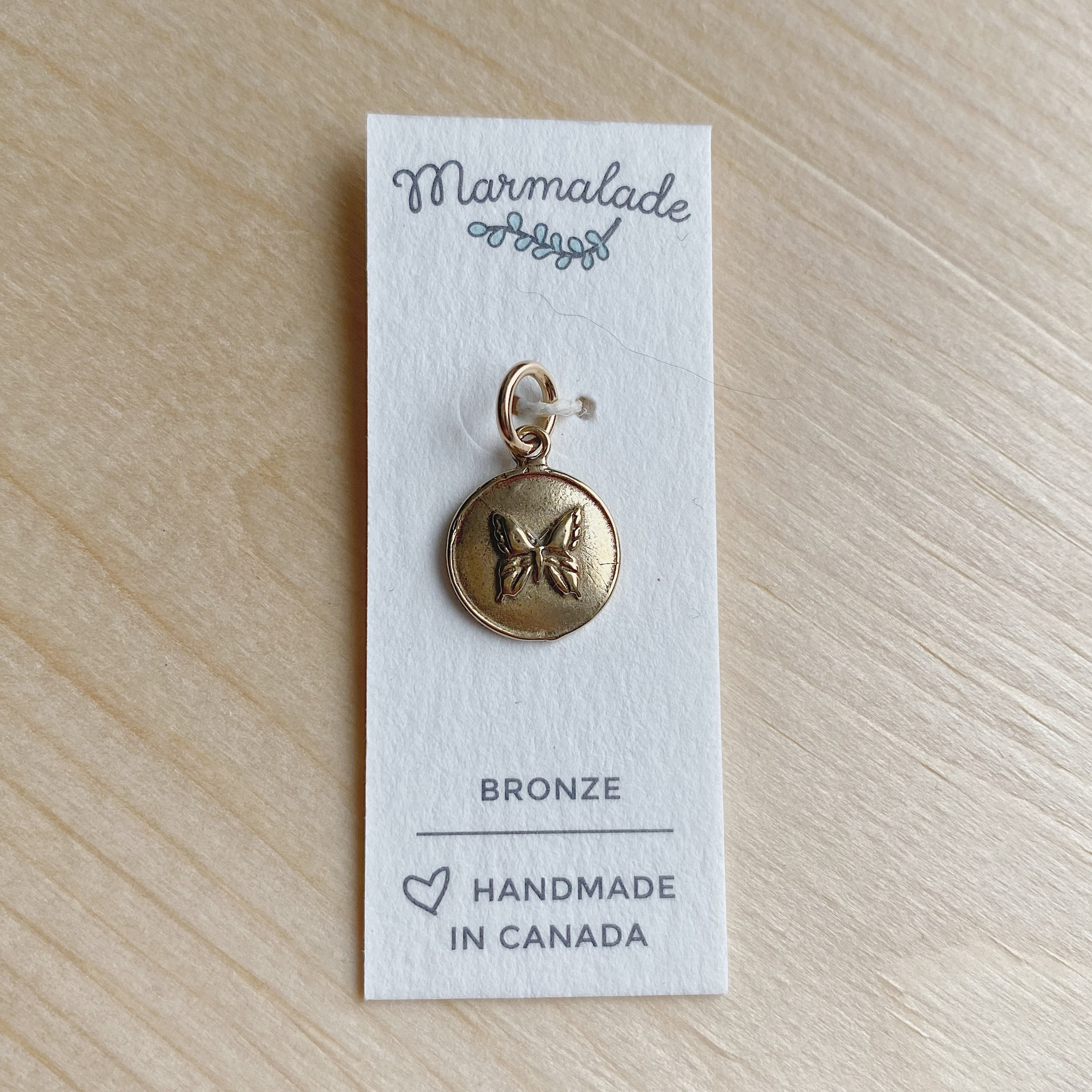 Marmalade Bronze Butterfly Charm