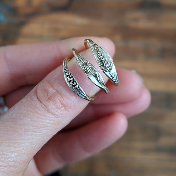 Marmalade Silver Forget Me Not Ring