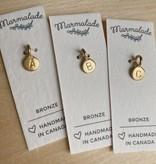 Marmalade Bronze Tiny Letter Charm