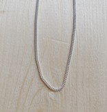 Marmalade Thin Silver Curb Chain 16""