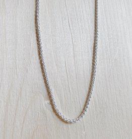 """Marmalade Thin Silver Spiga Chain 16"""""""