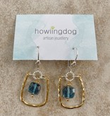 Howling Dog Abby Earring- Blue Topaz