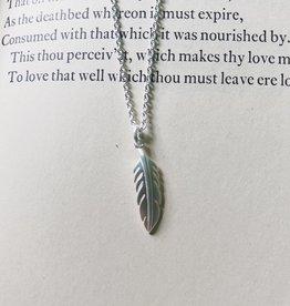 """Tashi Small Brushed Feather Necklace 16-18"""""""