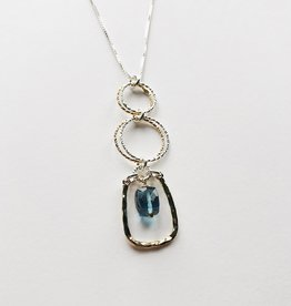 "Howling Dog Abby Necklace 30"" - Blue Topaz"